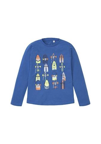 TOM TAILOR Sweater »Langarmshirt mit Skater - Print« kaufen