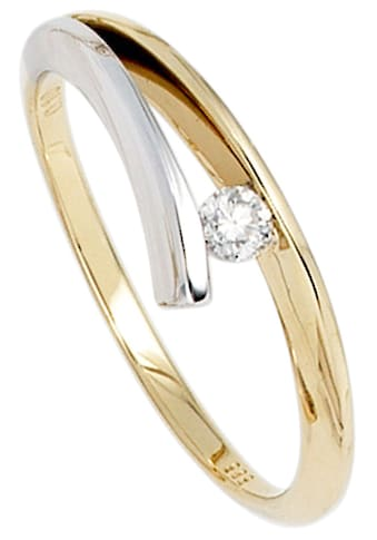 JOBO Solitärring, 585 Gold bicolor mit Diamant 0,10 ct. kaufen