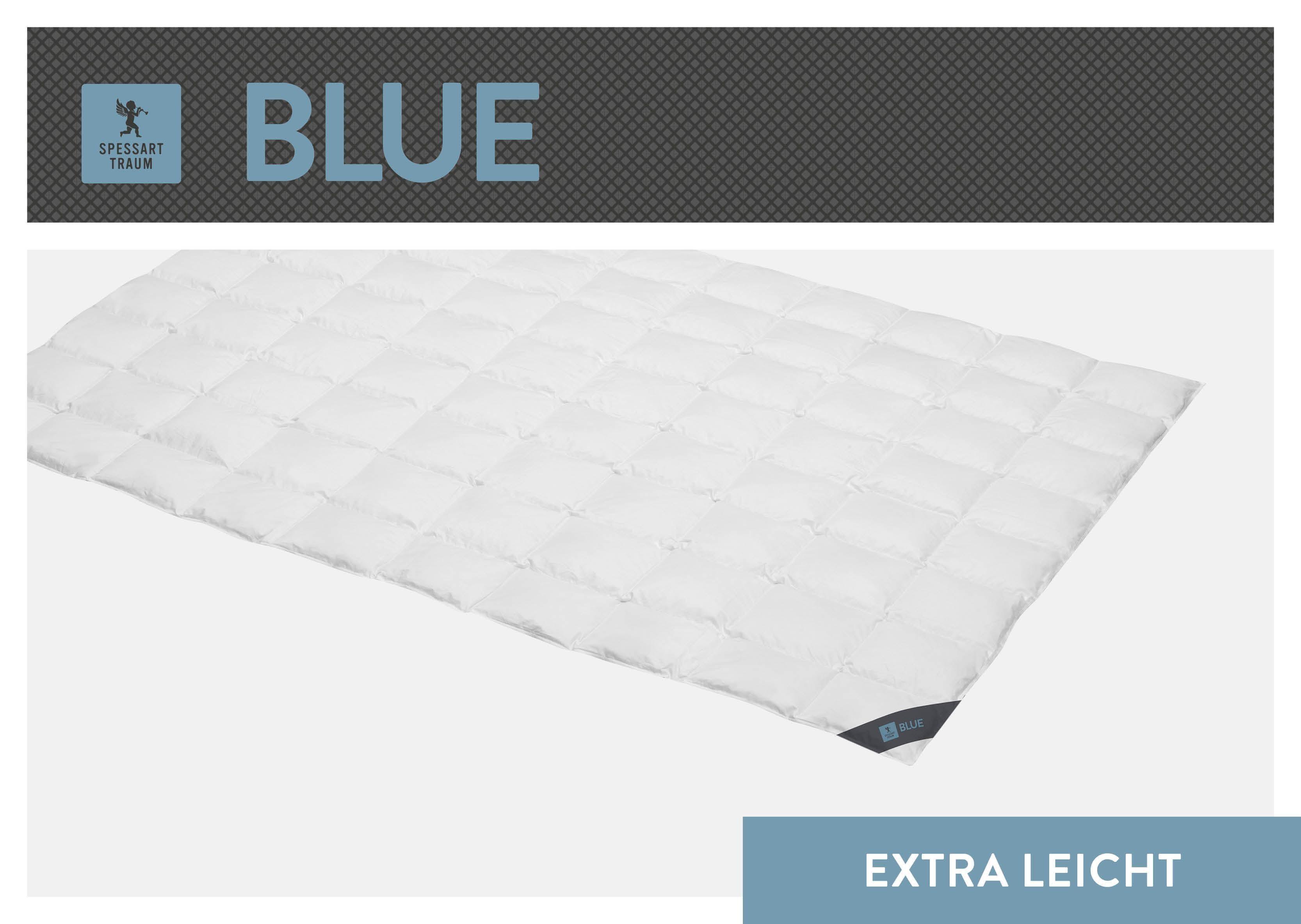 Daunenbettdecke Blue SPESSARTTRAUM extraleicht Füllung: 60% Daunen 40% Federn Bezug: 100% Baumwolle