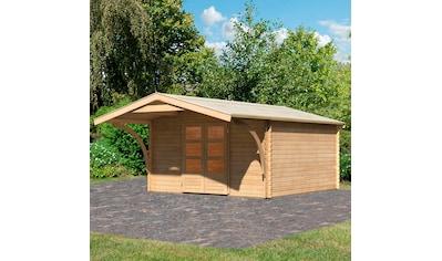 WOODFEELING Set: Gartenhaus »Bayreuth 6«, BxT: 406x562 cm, mit Vordach kaufen