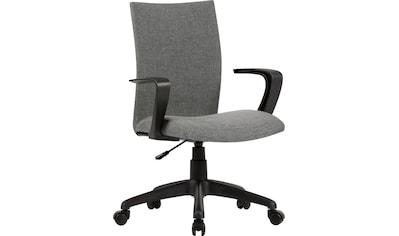 byLIVING Schreibtischstuhl »Sit«, Webstoff in grau kaufen