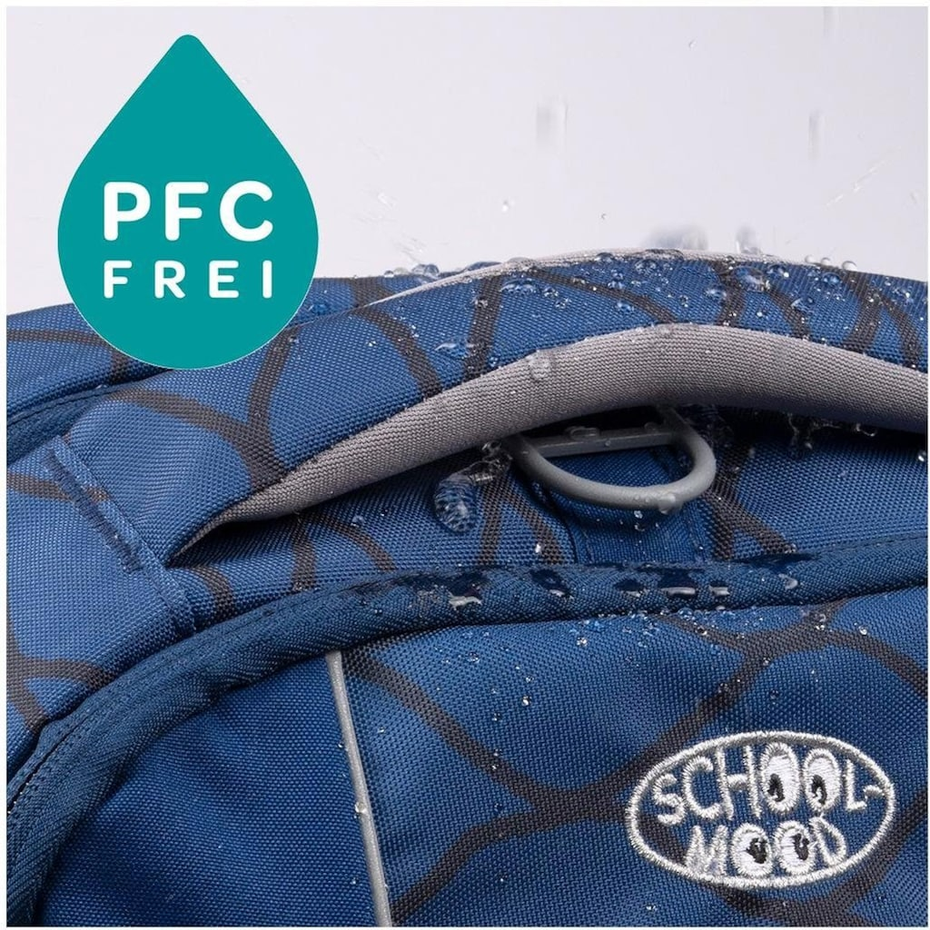 SCHOOL-MOOD® Schulranzen »Loop Air, Lea«, Reflektoren-retroreflektierende Flächen