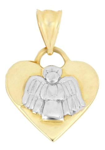 Firetti Kettenanhänger »Herz mit Engel und Rückseite mit fester Gravur (Übersetzung Gravur: Schutzengel beschütze mich)« kaufen