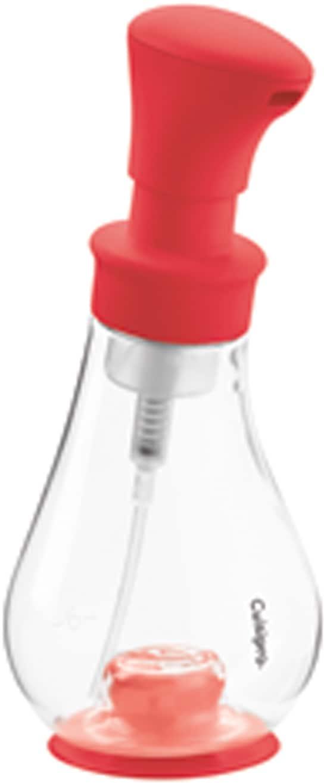 Cuisipro Seifenspender, für cremigen Seifenschaum, Kunststoff, 390 ml rot Seifenspender Badaccessoires Badmöbel