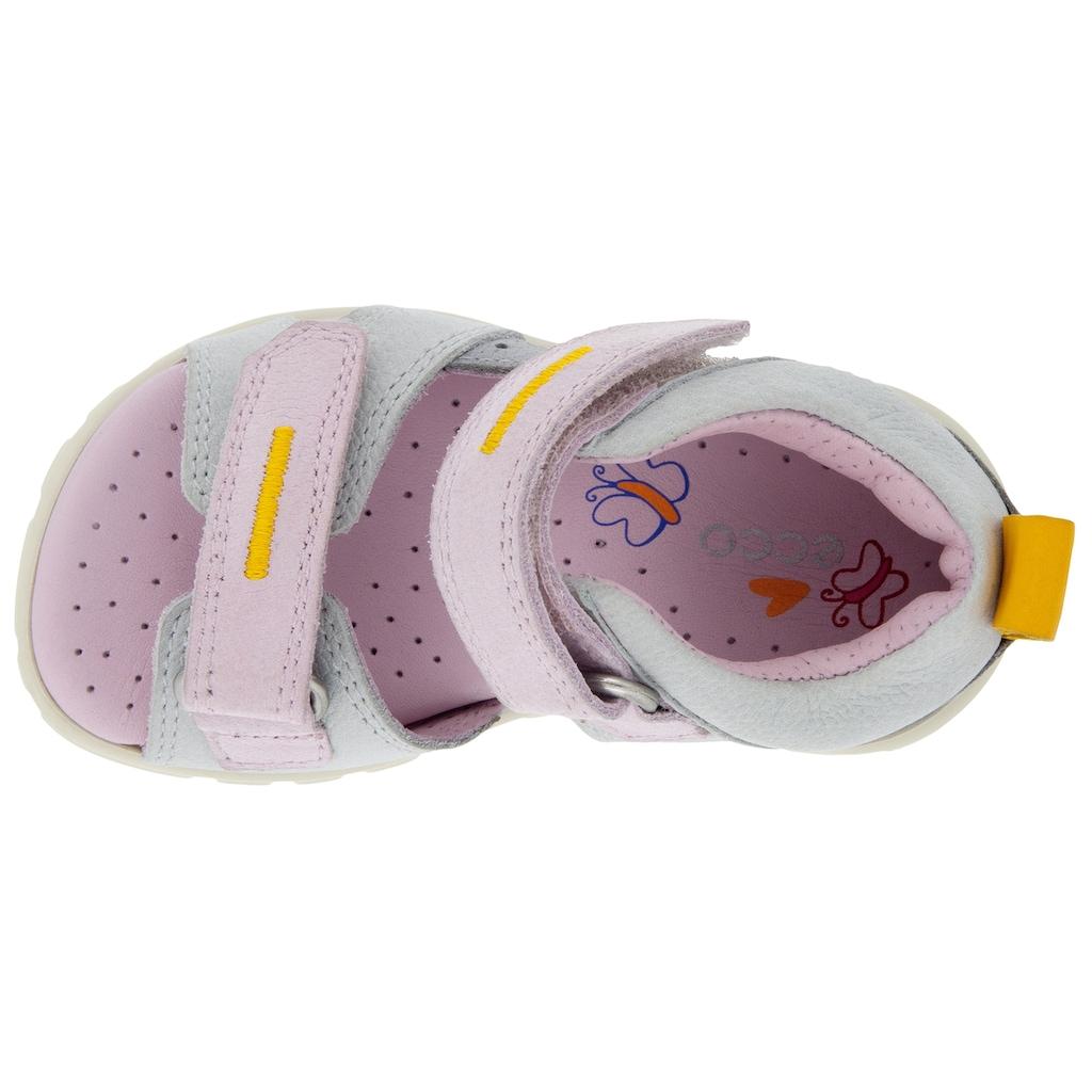 Ecco Lauflernschuh »MINI STRIDE«, mit kontrastfarbenen Details