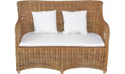 Home affaire Sofa, aus handgeflochtenem Kubu-Rattan und sechs Füßen kaufen