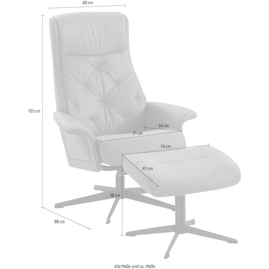 Relaxsessel »Westchester«, von IMG, incl. Hocker, in Luxus-Microfaser