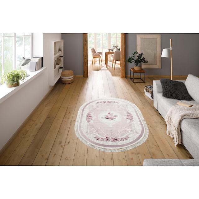 Teppich, »Sunshine 1055«, merinos, oval, Höhe 3 mm, gedruckt