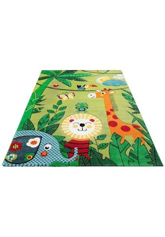 Lüttenhütt Kinderteppich »Dschungel«, rechteckig, 13 mm Höhe, handgearbeiteter Konturenschnitt kaufen