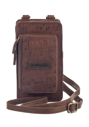 GreenLand Nature Handytasche »NATURE leather-cork«, mit aufgesetzter Geldbörse kaufen