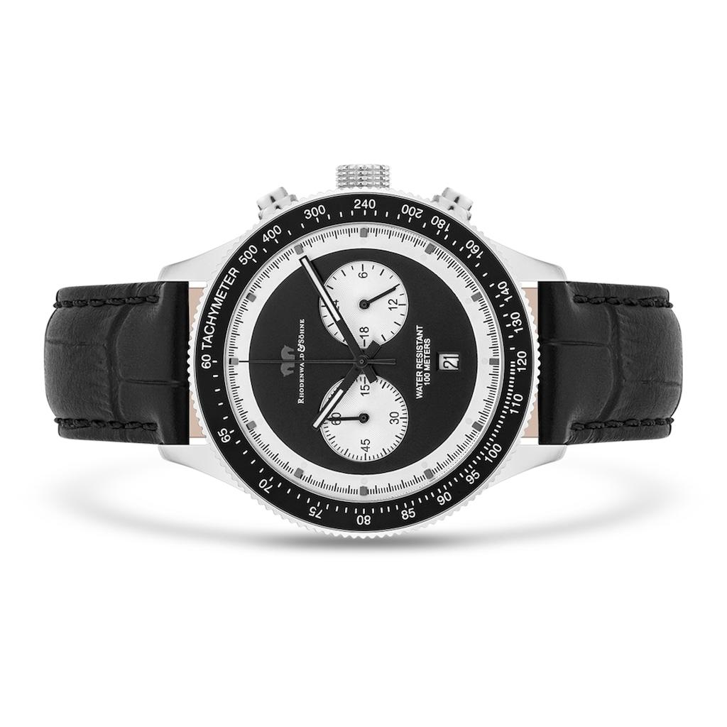 Rhodenwald & Söhne Chronograph »RWS024«, (1 tlg.), Armband aus Echtleder