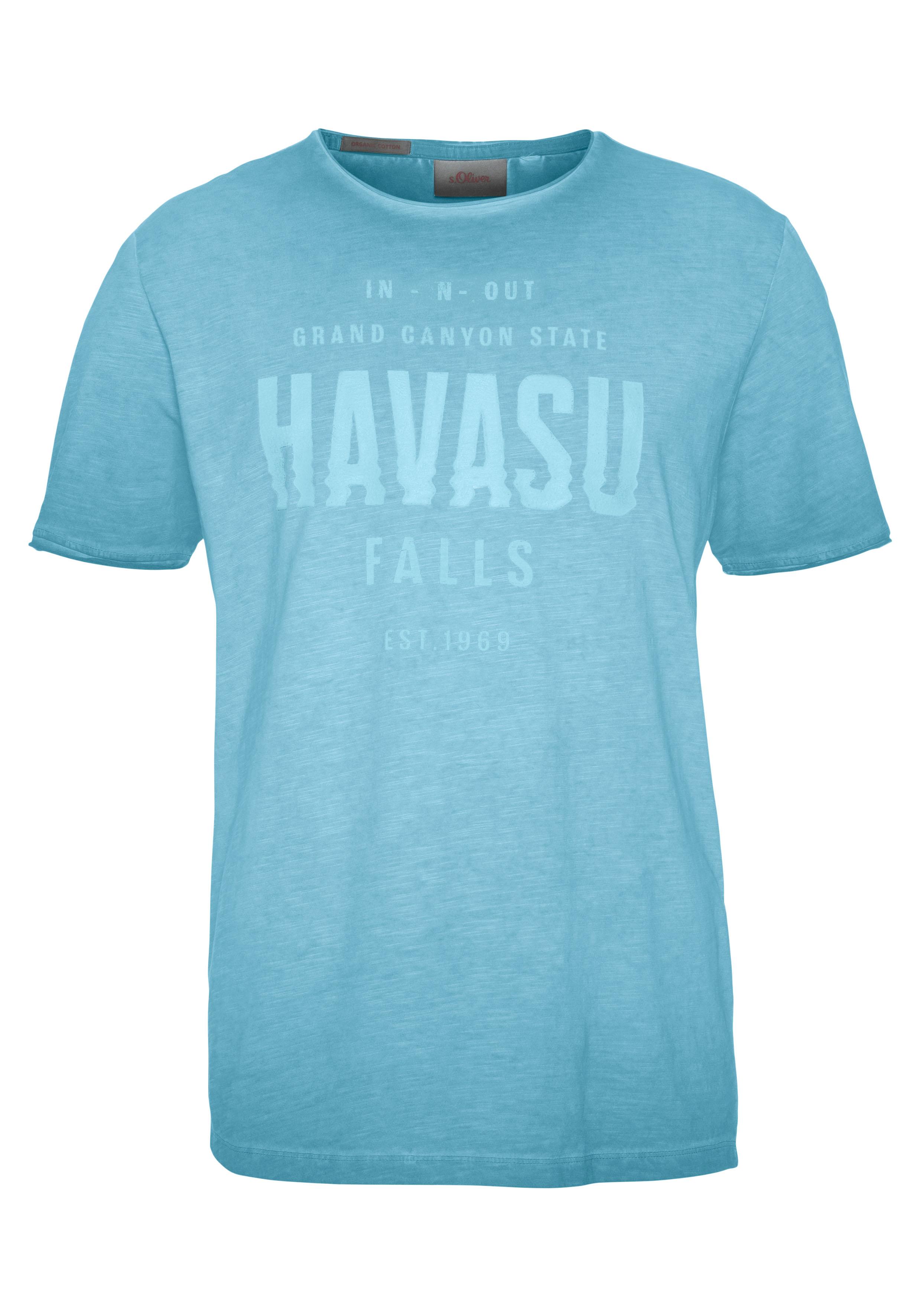 s.oliver -  T-Shirt, Washed-out-Optik