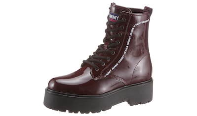 TOMMY JEANS Plateaustiefelette »PATENT LACE UP BOOT« kaufen