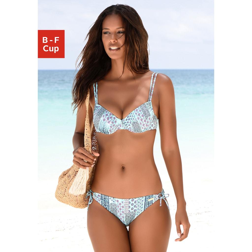 LASCANA Bügel-Bikini, in Patchwork-Optik