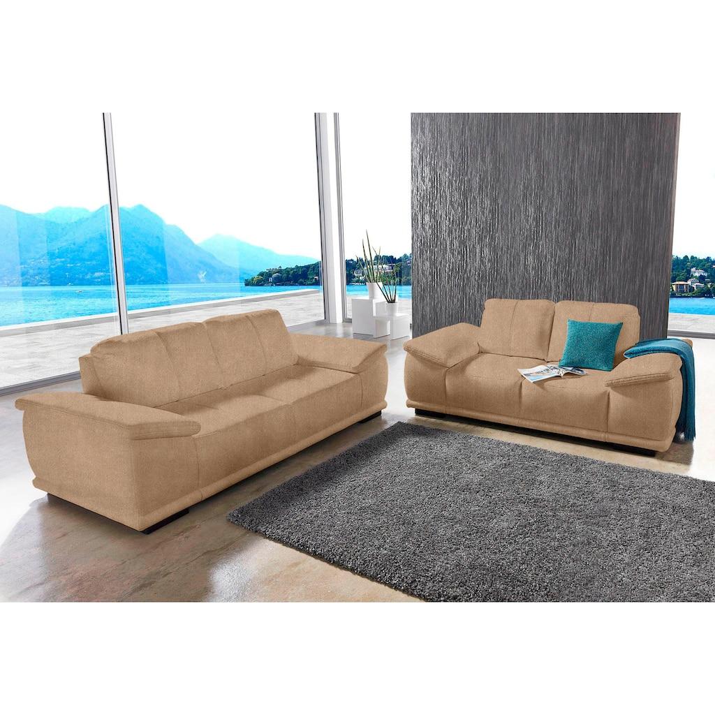 sit&more Polstergarnitur, bestehend aus 2,5-Sitzer + 3-Sitzer, mit extrabreiten Armlehnen
