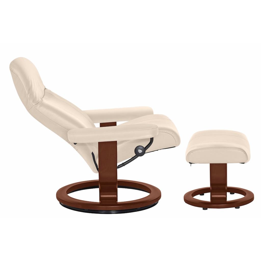Stressless® Relaxsessel »Garda«, mit Hocker, mit Classic Base, Größe M, Gestell Braun