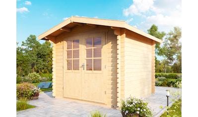 WOLFF FINNHAUS Gartenhaus »Bibertal 28 - XS«, BxT: 290x260 cm, inkl. Fußboden kaufen