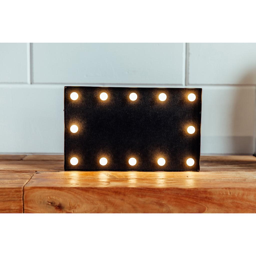 MARQUEE LIGHTS LED Dekolicht »Blackboard Schwarzes Brett«, 1 St., Warmweiß, Wandlampe, Tischlampe Blackboard mit 12 festverbauten LEDs - 31cm Breit und 19cm hoch