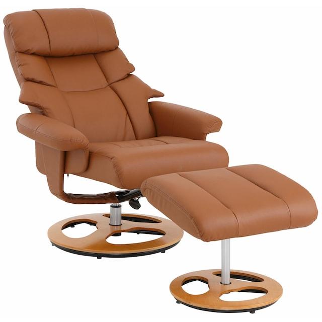 Home affaire Relaxsessel »Toulon« (2-tlg., Bestehend aus Sessel und Hocker)