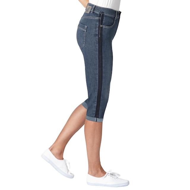 Ascari Capri-Jeans mit seitlicher Kontrast-Waschung
