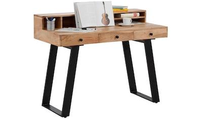Quadrato Schreibtisch »Cantu«, aus Massivholz kaufen