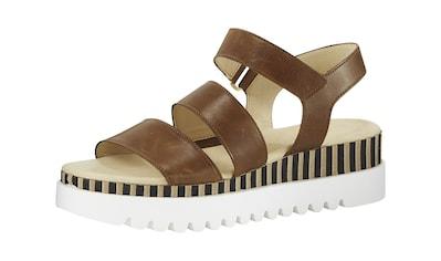 Sandalette mit kontrastfarbener Sohle kaufen