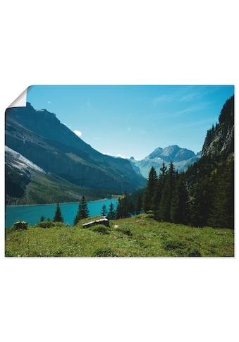 Artland Wandbild »Blick auf den Oeschinensee«, Berge, (1 St.), in vielen Größen &... kaufen