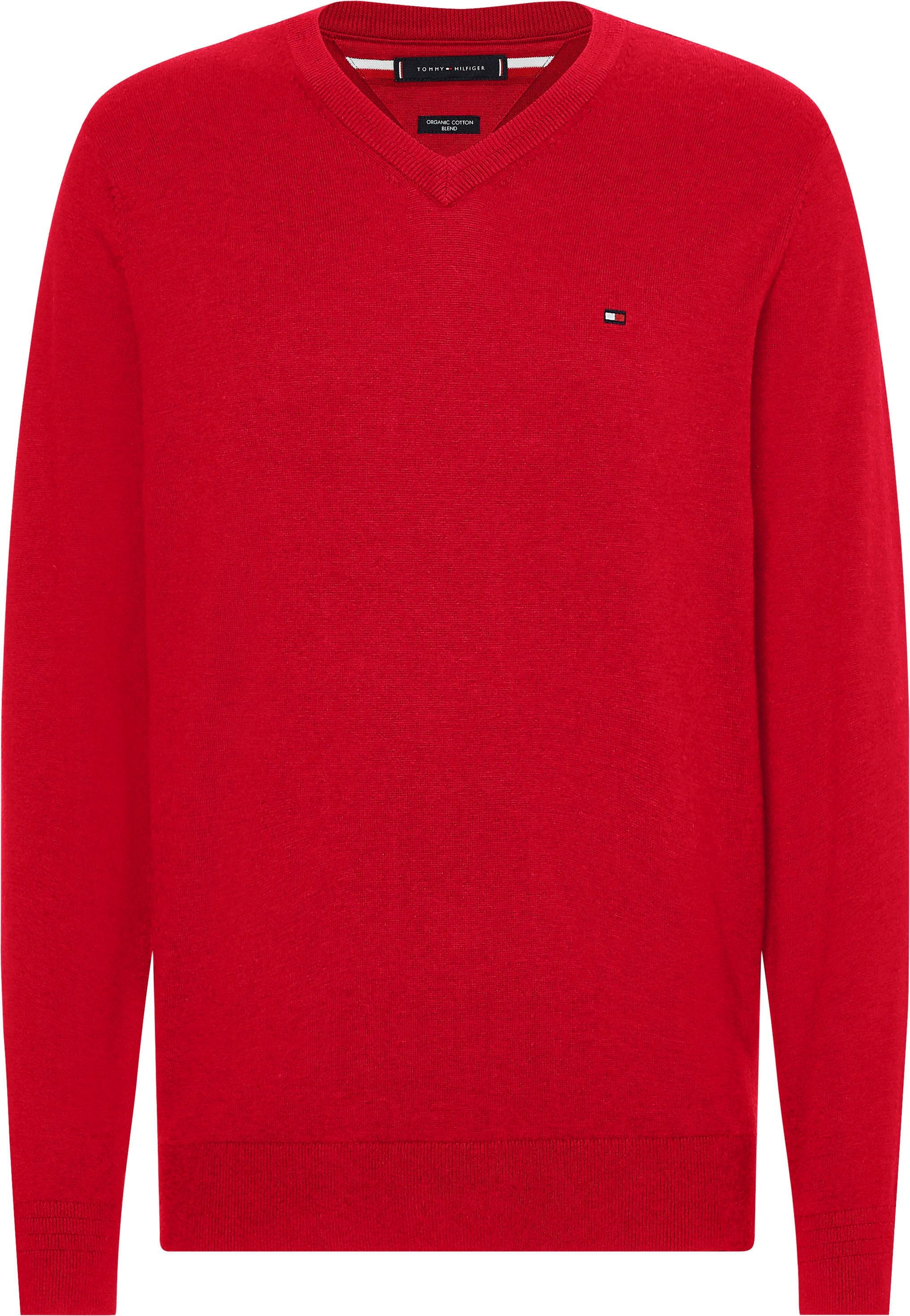 tommy hilfiger -  V-Ausschnitt-Pullover ORGANIC COTTON SILK V NECK