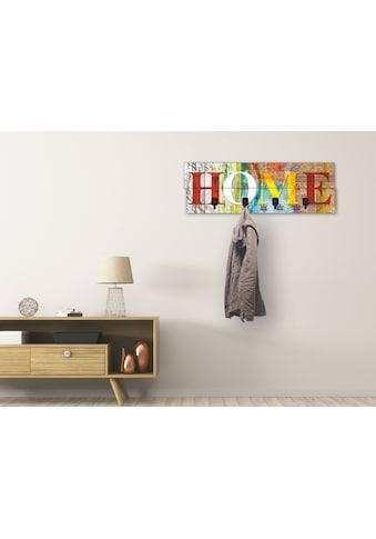 Artland Garderobenpaneel »Buntes Zuhause«, platzsparende Wandgarderobe aus Holz mit 4... kaufen