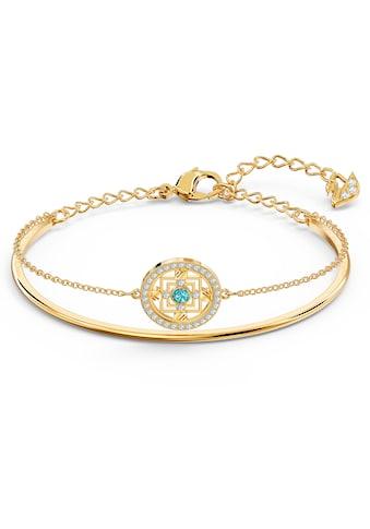 Swarovski Armreif »Swarovski Symbolic Mandala, grün, vergoldet, 5521493« kaufen