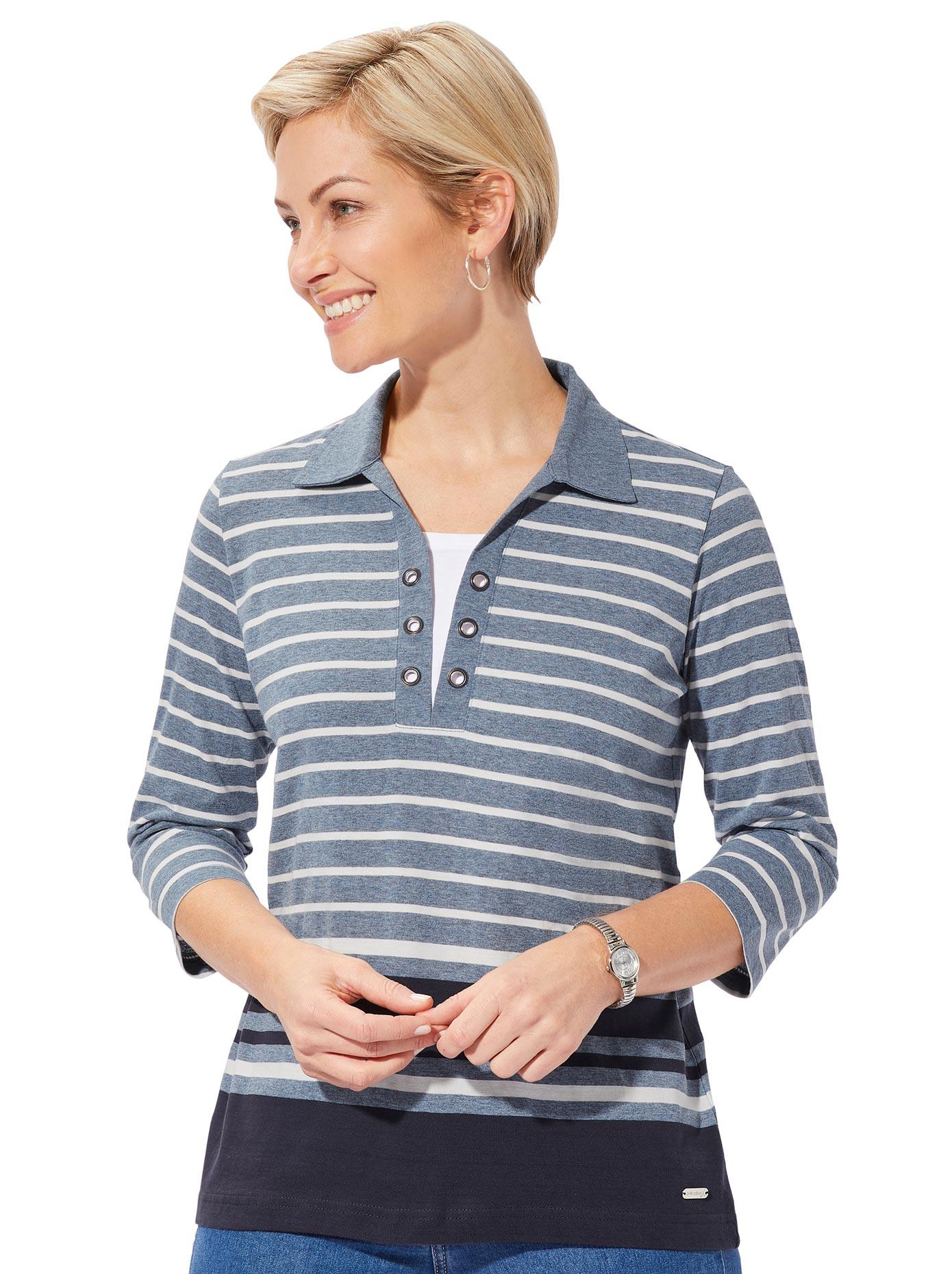 casual looks -  Poloshirt in der beliebten 2-in-1-Optik