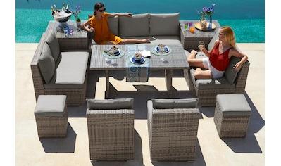 KONIFERA Loungeset »Florida«, (26 tlg.), 3-er Sofa, 2x 2-er Sofa, 2 Sessel,2 Hocker, 3... kaufen