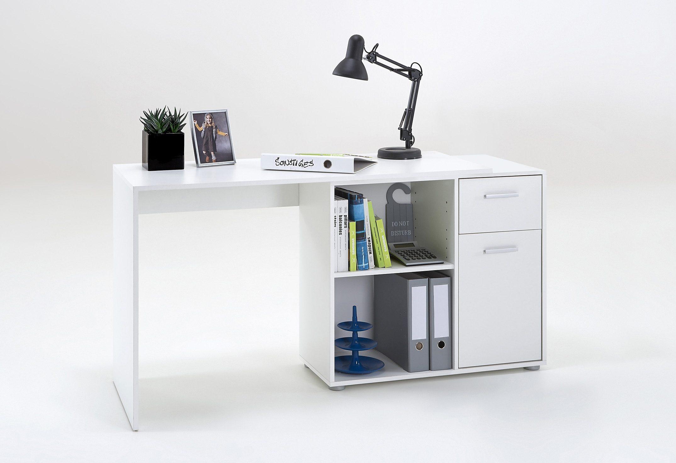 FMD Eck-Schreibtisch ALBRECHT im Raum frei stellbar