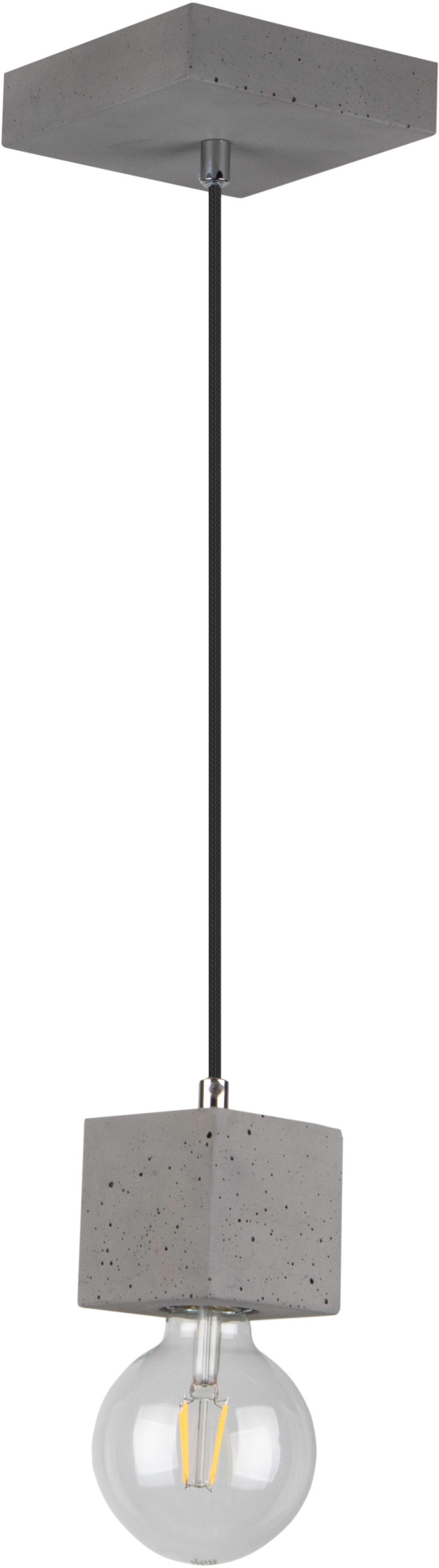 SPOT Light Pendelleuchte STRONG, E27, 1 St., Hängeleuchte, Echtes Beton - handgefertigt, Naturprodukt - Nachhaltig, Ideal für Vintage-Leuchtmittel, Made in Europe