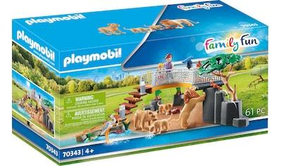 Playmobil® Konstruktions-Spielset »Löwen im Freigehege (70343), Family Fun«, ; Made in Germany kaufen