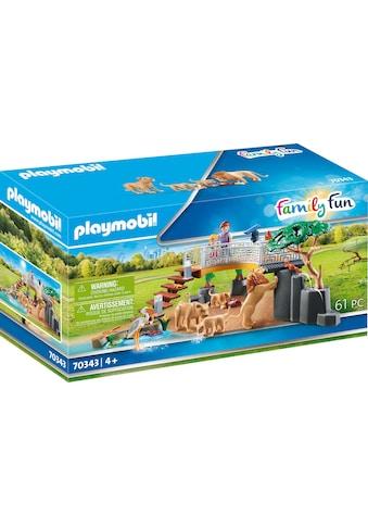 Playmobil® Konstruktions-Spielset »Löwen im Freigehege (70343), Family Fun«, (61 St.),... kaufen