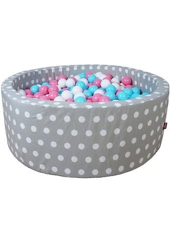 Knorrtoys® Bällebad »Soft, Grey white dots«, mit 300 Bällen rose/creme/lightblue; Made... kaufen
