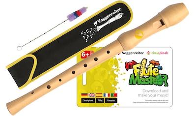 Voggenreiter Blockflöte Flute Master (Lernsoftware) mit Blockflöte, deutsche Griffweise, (Deutsch) kaufen