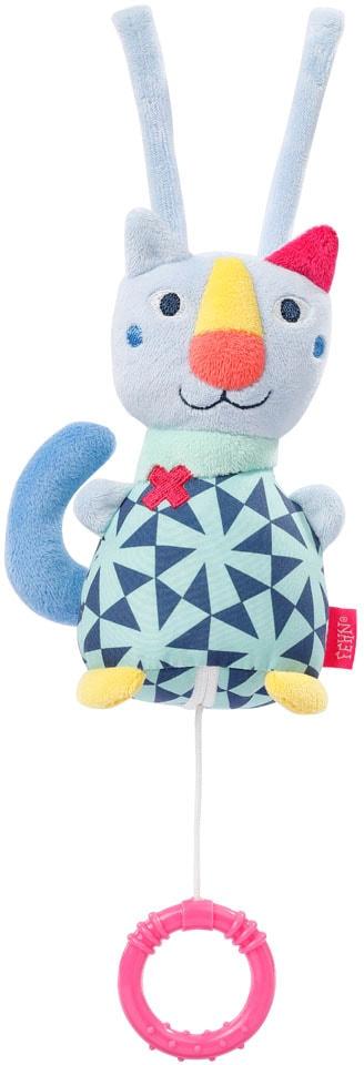 Fehn Spieluhr COLOR Friends Mini-Spieluhr Katze blau Kinder Spieluhren Baby Kleinkind