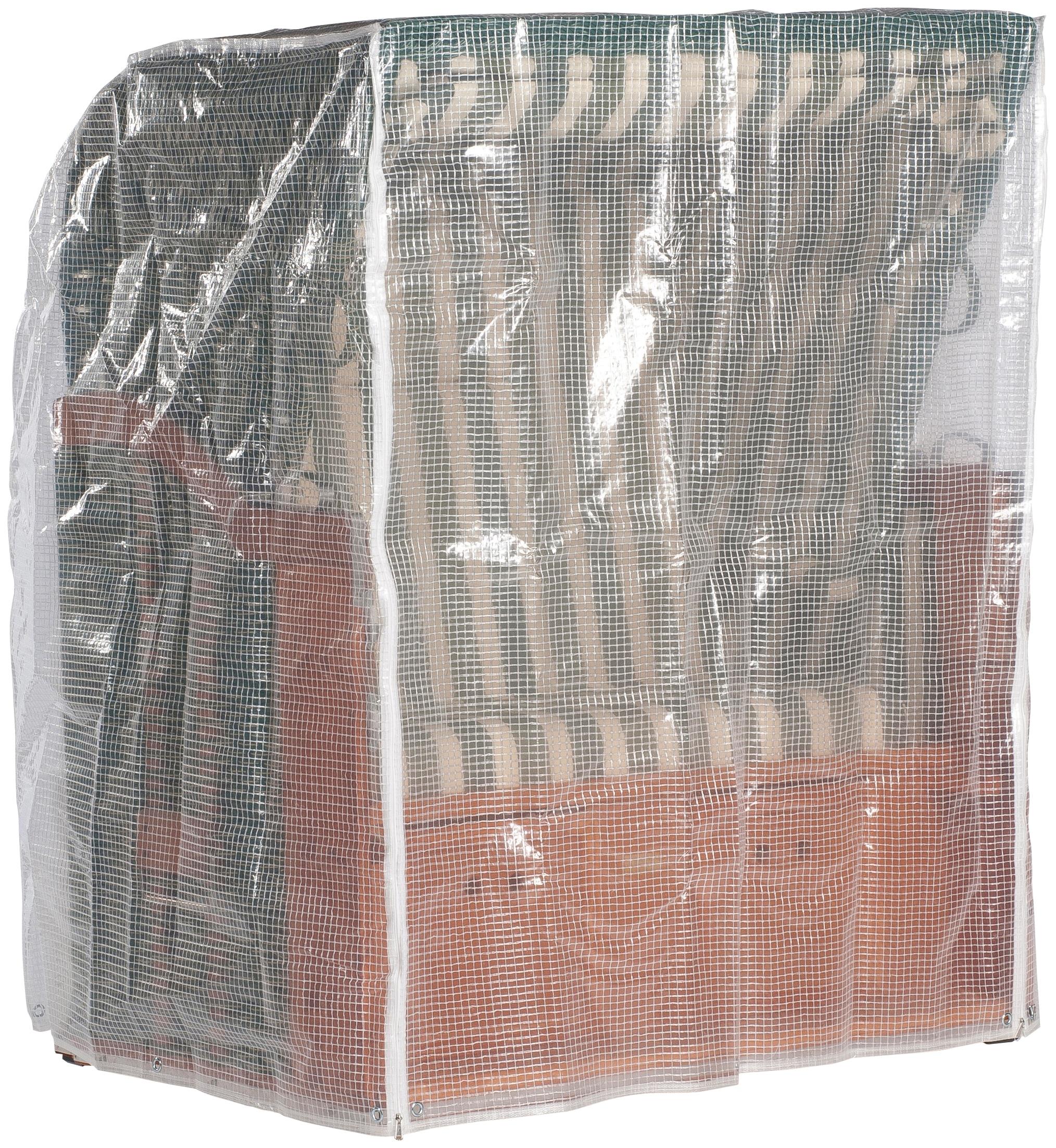 Sonnen Partner Strandkorb-Schutzhülle, für Strandkörbe, BxLxH: 144x114x154 cm, steingrau grau Schutzhüllen Auflagen und Schützhüllen Garten, Terrasse Balkon Strandkorb-Schutzhülle