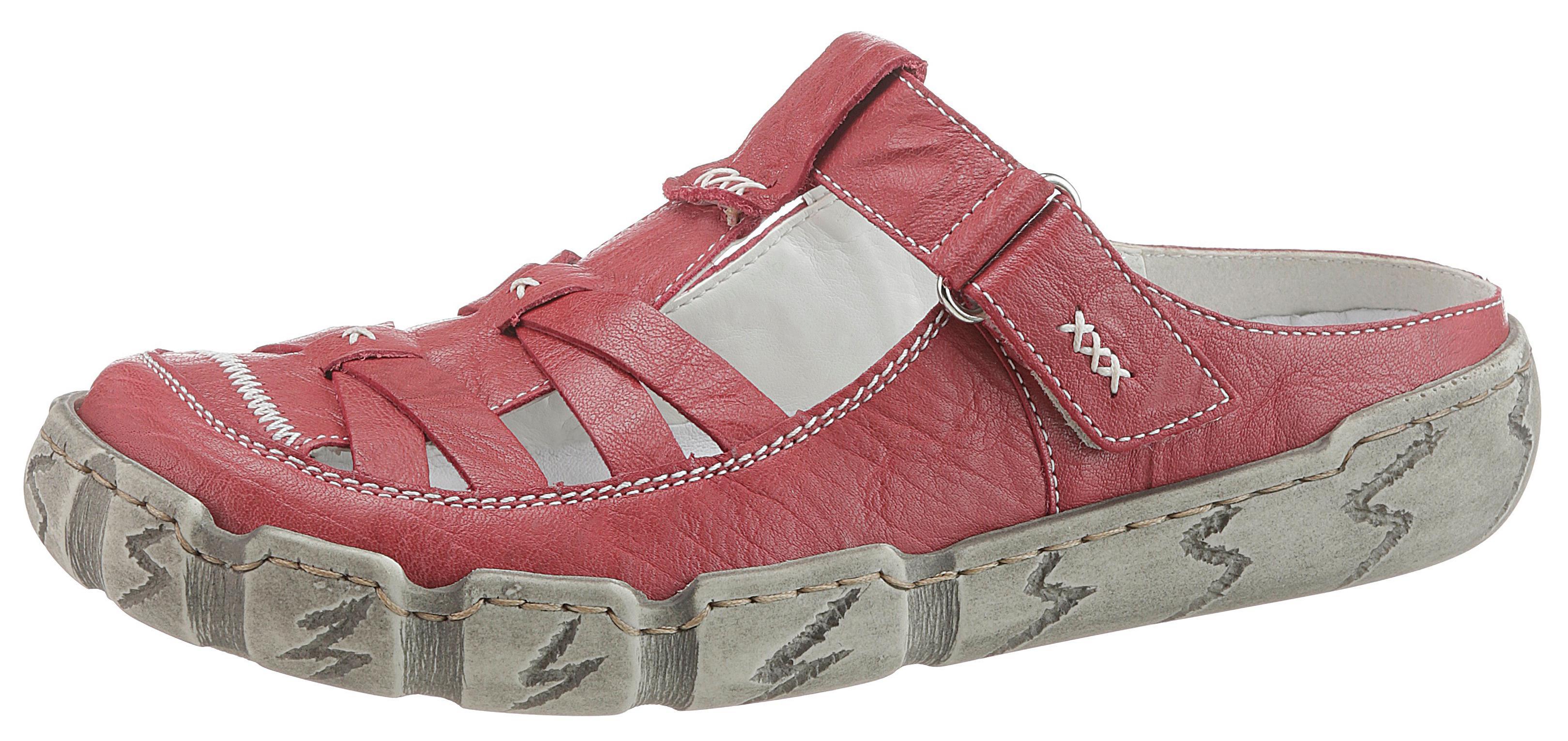 Rieker Clog | Schuhe > Hausschuhe > Pantoletten | Rot | Leder | Rieker