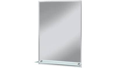 WELLTIME Badspiegel »Flex«, 50 x 70 cm, mit Glasablage und Facettenschliff kaufen