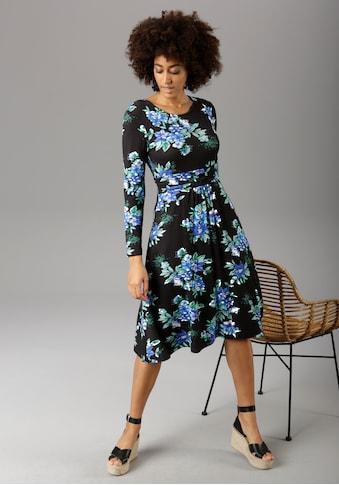 Aniston CASUAL Jerseykleid, mit breitem, gerafften Bund in der Taille - NEUE KOLLEKTION kaufen