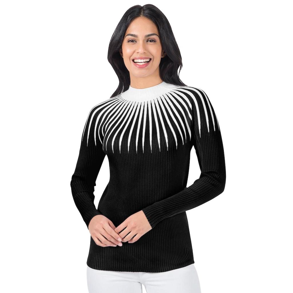 Inspirationen Stehkragenpullover »Pullover«