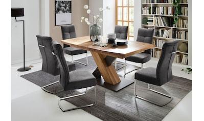MCA furniture Esstisch »Mendoza«, Esstisch Bootsform mit X-Säule, ausziehbar kaufen
