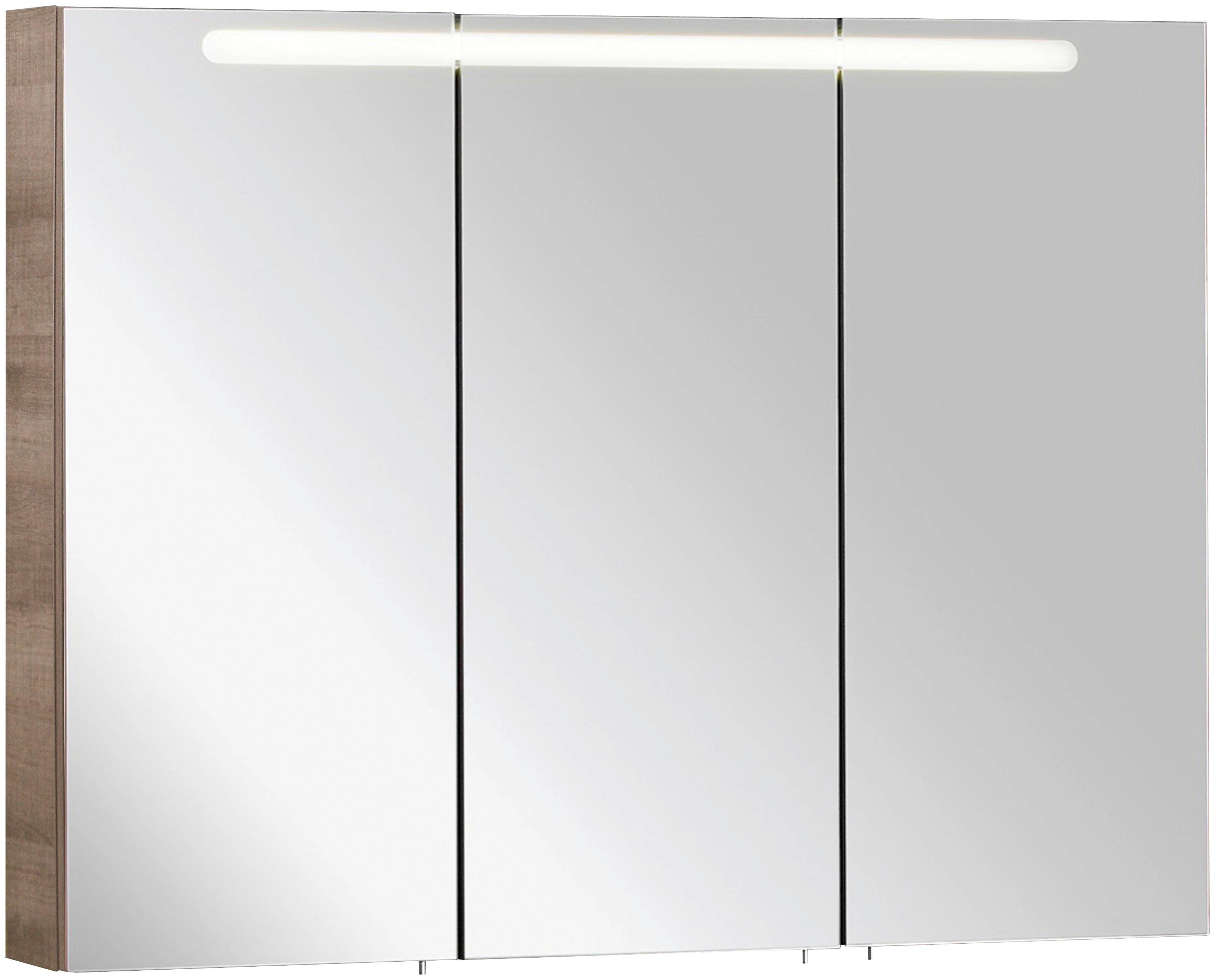 FACKELMANN Spiegelschrank braun Bad-Spiegelschränke Badschränke Schränke