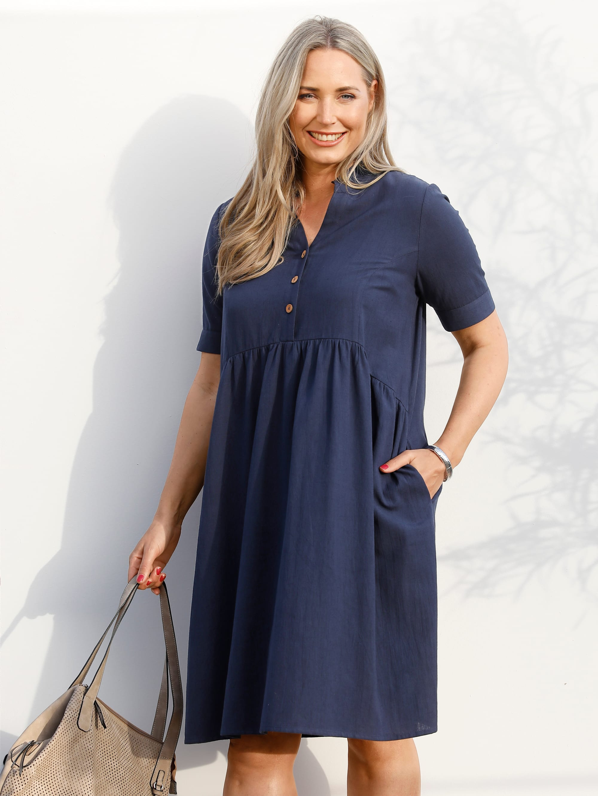 miamoda -  Blusenkleid, in Stufenoptik