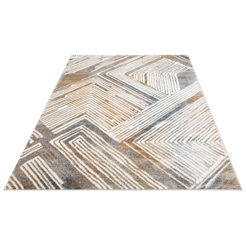 andas Teppich »Jeras«, rechteckig, 10 mm Höhe, modernes Design, Wohnzimmer