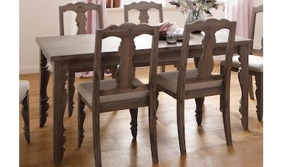 Home affaire Esstisch »Magnolia«, aus massivem Akazienholz, mit schöner geschwungener Beinform und besonderen Details kaufen