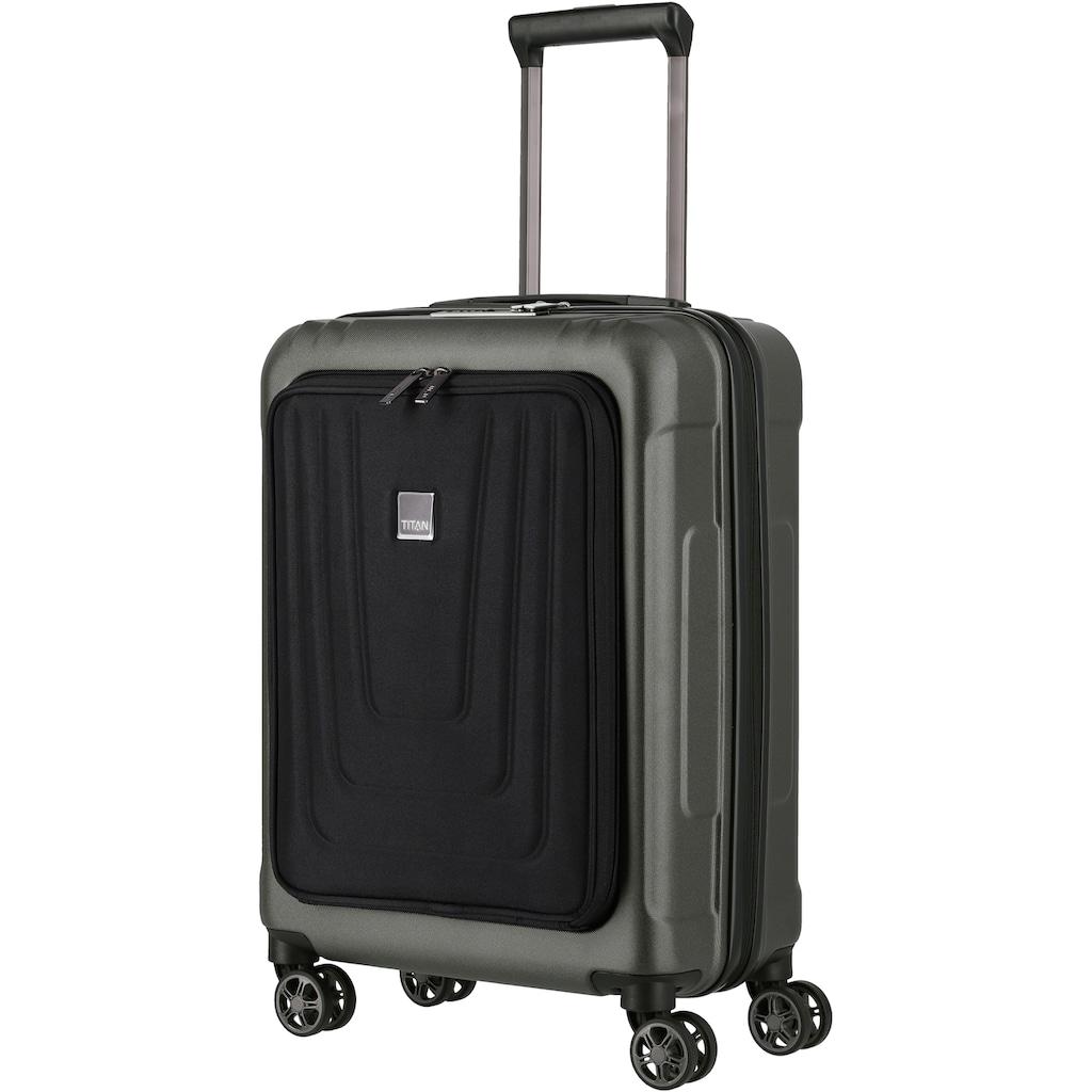 TITAN® Hartschalen-Trolley »X-Ray S, 55 cm«, 4 Rollen, mit Vordertasche; Made in Germany